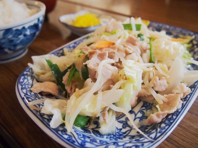 「肉野菜炒め定食」@山海亭