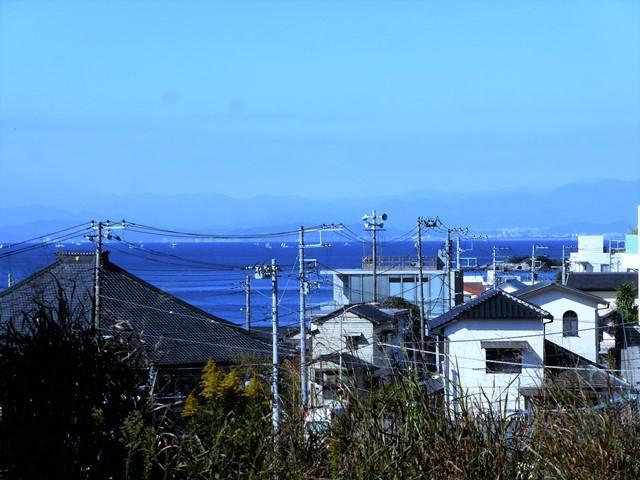 横須賀市秋谷|売地|3280万円|海を高台から望む