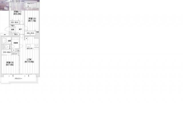 湘南エリア☆茅ヶ崎市本村5丁目「茅ヶ崎グランドハイツ」A棟3LDKリノベ済2380万