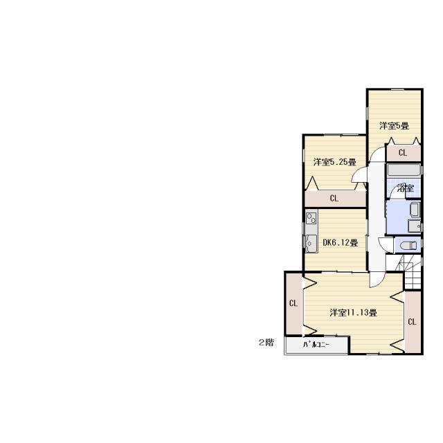 茅ヶ崎市松林アクアハイツⅠ2階貸アパート3DK賃料95,000円