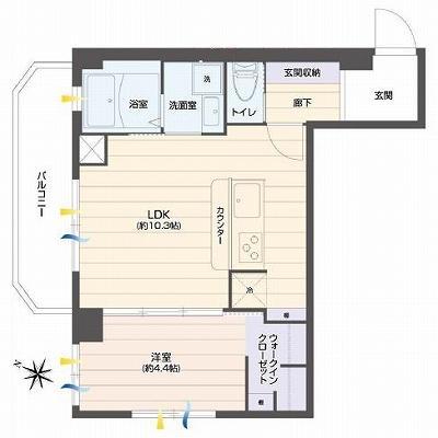 鵠沼海岸駅徒歩6分マンション敷地内に屋外プールのあるリゾート風1,480万円!