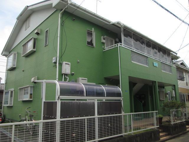 本鵠沼駅徒歩11分外観オシャレな貸アパートグリーンハイム賃料90,000円