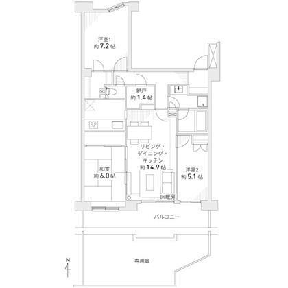 【価格変更】藤沢市大庭専用庭付き!グレーシア湘南ライフタウン3LDK+W+専用庭+納戸2,480万円