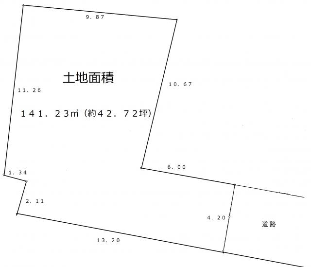 茅ヶ崎市赤羽根建築条件なし土地販売陽当たり・通風良好141.23㎡1,780万円!