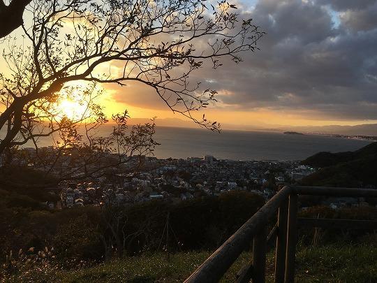 仙元山の夕日(29.11.26)